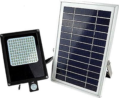 MP.S Wireless Solar Motion Sensor Flood Light – Dim & Auto Ultra-Bright Mode – Powerful Battery, 120 pc LED Panel – IP65 Waterproof Rating – Eco Friendly – Ideal as Lawn, Garden Street Outdoor Light