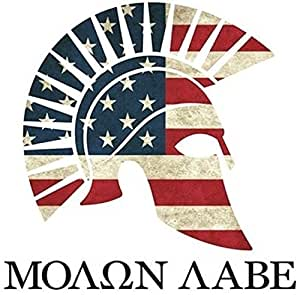 amazoncom molon labe american flag greek spartan sticker With kitchen colors with white cabinets with molon labe stickers