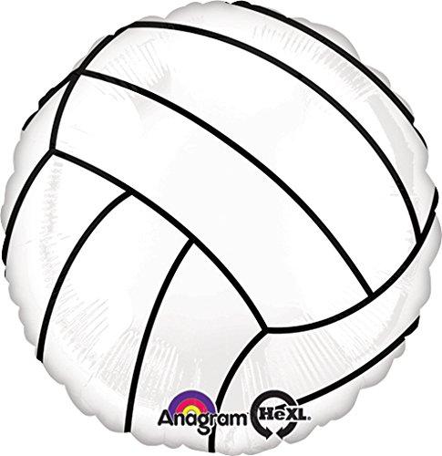 LoonBallon Volleyball Balloon, Standard Foil Balloon, 5 Pieces ()