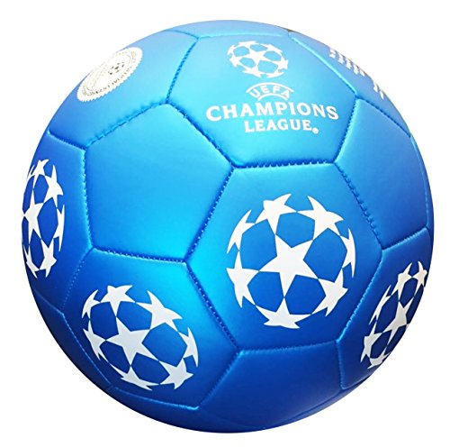 Official Soccer football - UEFA Champions League - Blue Star - Size 5 - Premium ball - Official size and weight