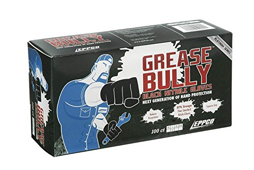 - GREASE BULLY 6 mil Black Nitrile Gloves - Large -100ct