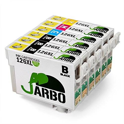 JARBO 1 Set+2 Black Replacement for Epson 126XL Ink Cartridge High Yield, Worked with Epson Stylus NX430 Workforce 845 645 545 435 520 630 633 WF-3520 WF-3540 WF-7510 WF-7520 WF-7010 WF-3530 Printer