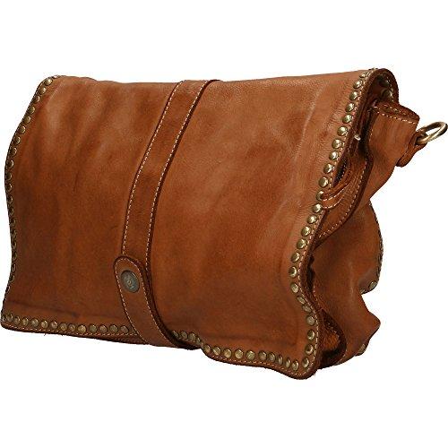 Made sac cuir Cm 31x22x7 Italy à bronzer Chicca in en Vintage embrayage Femme véritable Borse petit main à épaule RqwOCp