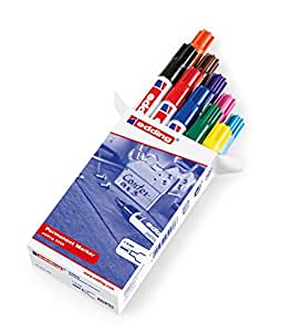 Edding 3300–Marcador permanente, rellenable, 1–5mm), colores surtidos