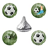 MAGJUCHE Soccer Candy Stickers, Futbol Boy Baby Shower Birthday Party Favor Labels, Fit Hershey's Kisses, 304 Count