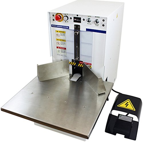 Akiles Diamond-6 Corner Rounding Equipment, 2-3/8″ (60mm)/600 Sheets (20 lb) Maximum Capacity, 1/4″ Included Die, Large Work Table, Heavy-Duty Foot Pedal, Storage & Trash Bin, Manual & Auto Mode Corner Rounding Equipment