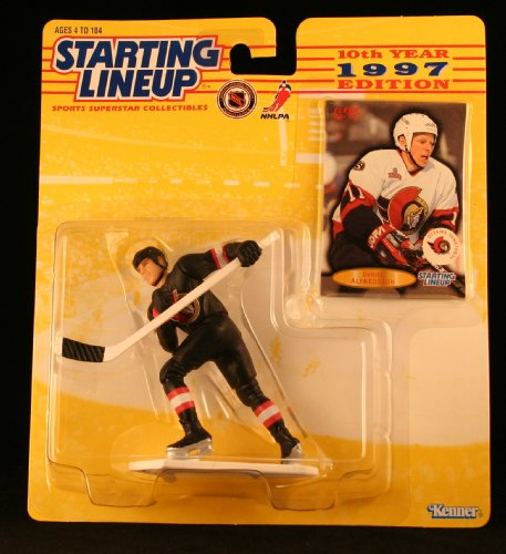 DANIEL ALFREDSSON / OTTAWA SENATORS 1997 NHL Starting Lineup Action Figure & Exclusive FLEER '96/'97 Collector Trading Card - Daniel Alfredsson Player