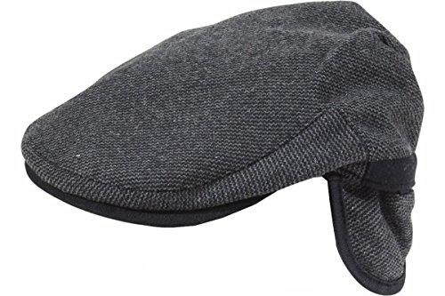 Dorfman Pacific Men's Charcoal Tweed Earflap Ivy Cap Hat Sz: L (Dorfman Pacific Ivy)