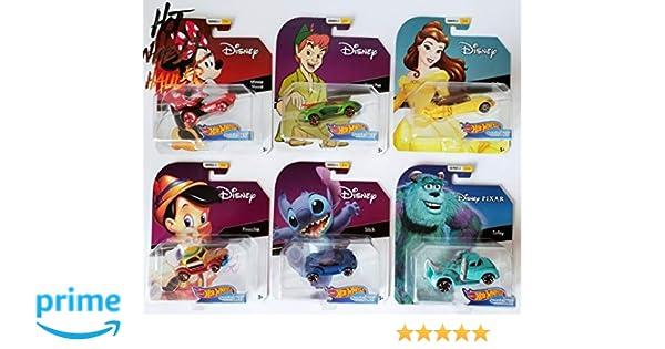 Amazon.com: Hot Wheels 2019 Disney Pixar Series 2 Character Cars Complete Set of 6, New: Toys & Games
