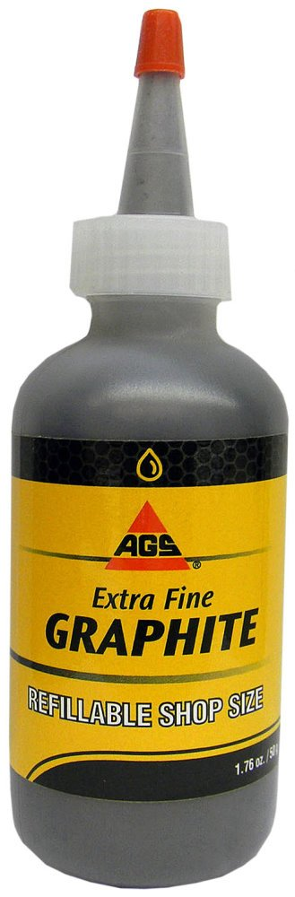Mr Zip Extra Fine Graphite Lubricants Bottle 2 Oz AGS Company Automotive Solutions LLC
