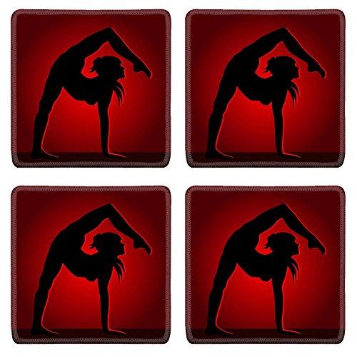 - Luxlady Square Coasters Non-Slip Natural Rubber Desk Coasters Flexible dancing girl IMAGE ID 25463235