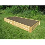 Infinite Cedar Raised Bed Garden Kit 4'x8'x11 6 Long-lasting raised garden beds made from rot resistant thick Western Red Cedar Boards Easy Assembly –Assembles in minutes and can be easily disassembled as needed. Strong, Quality build – 1″ thick premium quality deck boards combined with strong joint design will not bow under the weight of wet soil and will last for years.