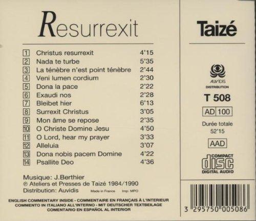 Taize : Resurrexit: Comunidad Taize, Jaques Berthier y otros: Amazon.es: Música