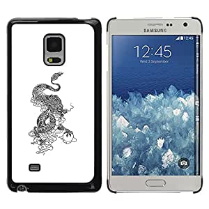 SoulCase / Samsung Galaxy Mega 5.8 9150 9152 / Oriental Chinese Dragon Totem / Delgado Negro Plástico caso cubierta Shell Armor Funda Case Cover