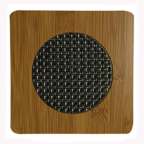 Square Creative Moso Bamboo Place Mat/ Cup Mat/ Pot Holder,, Set of 4