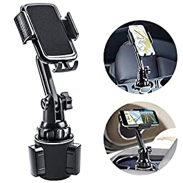 Car Cup Holder Phone Mount, Mikikin Cell Phone Holder Universal Adjustable Cup Holder Cradle Car Mount with Flexible…