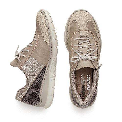 Rieker Damen L3223 Sneakers Beige
