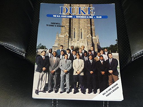 1993 NC STATE NORTH CAROLINA STATE AT DUKE COLLEGE FOOTBALL PROGRAM