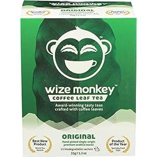 Wize Monkey Original Coffee Leaf Tea Bags, Low Caffeine, 15 Tea Bags