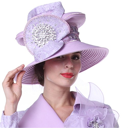 Kueeni Women Hats Ladies Hat Outfits Hat Wedding Big Hat Purple at ... ba54265aec4