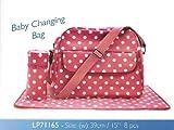 Leonardo Dotty Baby Changing Bag Mat & Accessory Bag 39Cm Red