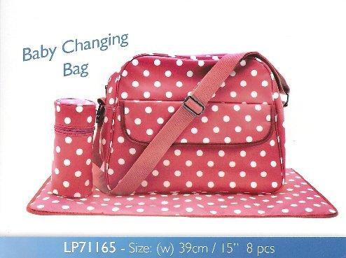 Leonardo Dotty Baby Changing Bag Mat & Accessory Bag 39Cm Red by LEONARDO