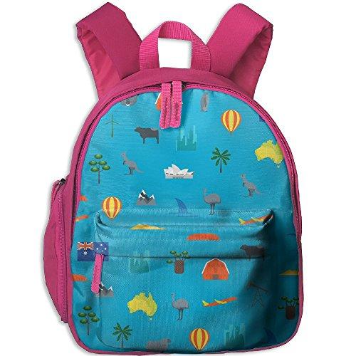 Toddler Preschool Backpack Australia Animals Blue School Bag