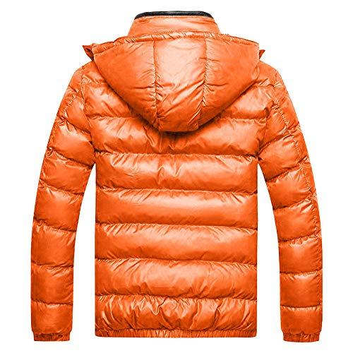 Covermason Pour Épaissir Blouson Homme Veste Doudoune D'hiver Orange Capuche Amovible À Longue Chaud Parka Manteau rzUwqxr