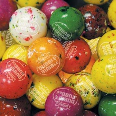 Dubble Bubble Splat Jawbreakers Assorted Colors 25-27mm, 2 Pounds Splat Tie-dye Colors Fruit Flavored Candy Centers