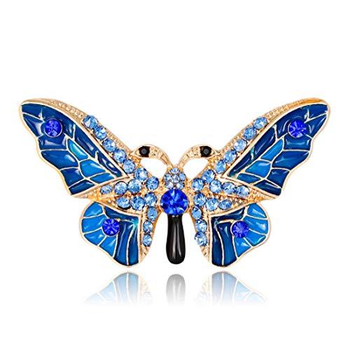 - YFan Fashion Butterfly Rhinestone Brooch Pins Women Cute Animal Jewelry Accessories