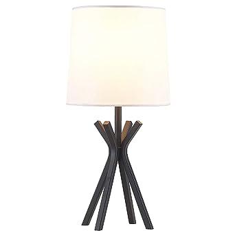 Popilion Contemporary Black Metal Base Table Lamp Minimalist Table
