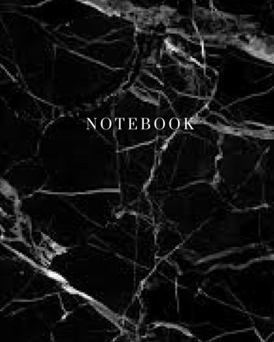 Notebook - Marble Black Cover: (8 x 10) Writing Journal, 100 Pages, Smooth Matte Cover