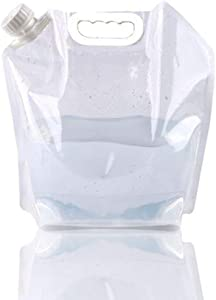 SUPANT Collapsible Emergency Water Jug Container Bag, Freezable, BPA Free Plastic Water Carrier Tank, Outdoor Folding Water Bag for Sport Camping Riding Mountaineer Backoacking, Food Grade