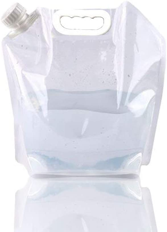 10L Water Bottle Outdoor Collapsible Plastic Water Container Tank Carrier