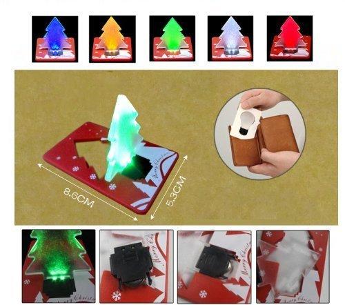 Folding Led Pocket Christmas Tree Card Light Lamp in US - 1