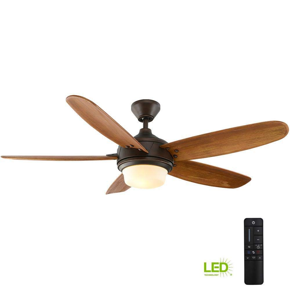 Home Decorators Collection Breezmore 56 in. LED Indoor Mediterranean Bronze Ceiling Fan with Light Kit and Remote Control