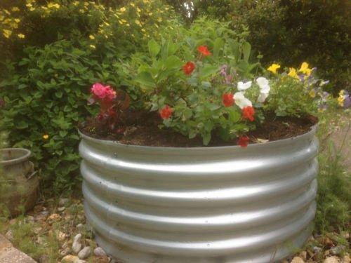 Garden Raised Bed Metal Galvanised Steel Circular 120 Cm Diameter