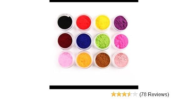 sports shoes f81ac 911a9 Amazon.com: NEW 12 Color Velvet Flocking Powder for Velvet Manicure Nail  Art Polish Tips: Beauty