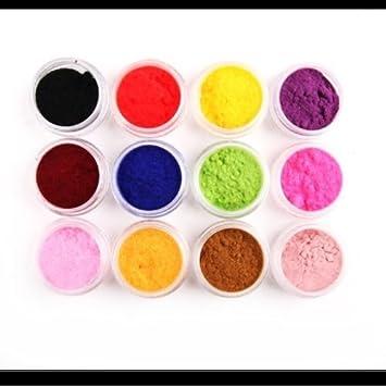 Amazon New 12 Color Velvet Flocking Powder For Velvet Manicure