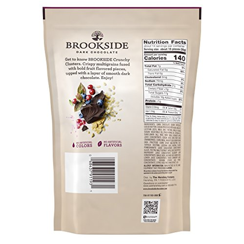 Brookside Dark Chocolate Crunchy Clusters Berry Medley Fruit Flavors Pouch, 15 Ounce by Brookside (Image #1)