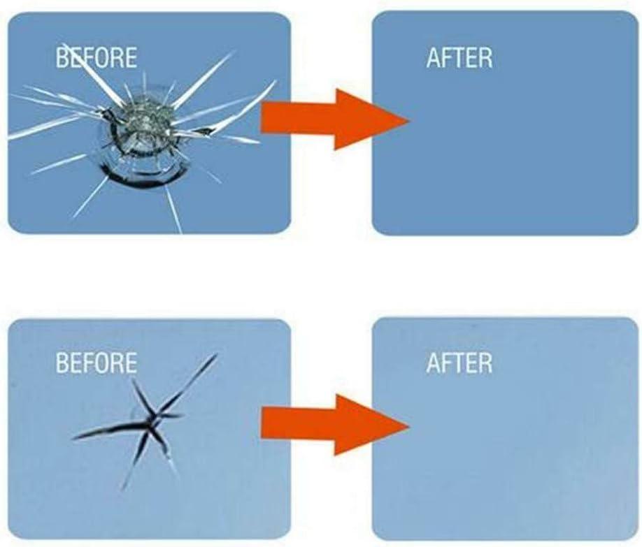 Autoglas Nano Repair Fluid Autofenster Glas Crack Chip Reparaturwerkzeug f/ür Windows Tabletten TIREOW 2Pcs 3ml Windschutzscheibenreparaturmittel mit 1Pcs Schaber Spiegel Schwarz