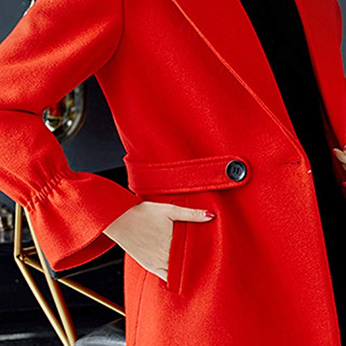 Rebajas Ansenesna Parka Abrigo Tipo Mujer Chaqueta Slim Largo De Invierno Cardigan Más El Sobrepasa Gruesa Abrigos Talla Grande Rojo1 Para Cachemira Elegantes tnrvtxUw