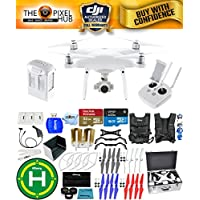 DJI Phantom 4 Advanced Drone MEGA Ready To Fly EXTREME ACCESSORY BUNDLE With 1 Battery (Total), Vest Strap, Extra Props, Landing Pad, Filter Kit Plus Much More (Aluminum Case)