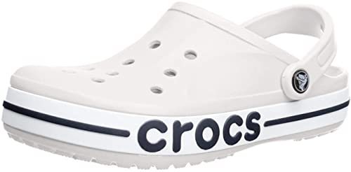 Buy crocs Unisex's White and Navy Clogs
