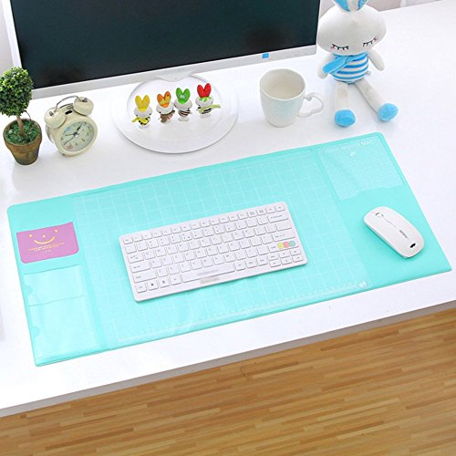 Gaming Mouse Pad - Non-slip Rubber Base - Fresh oversized desk writing pad multifunction mouse pad PVC waterproof student writing pad