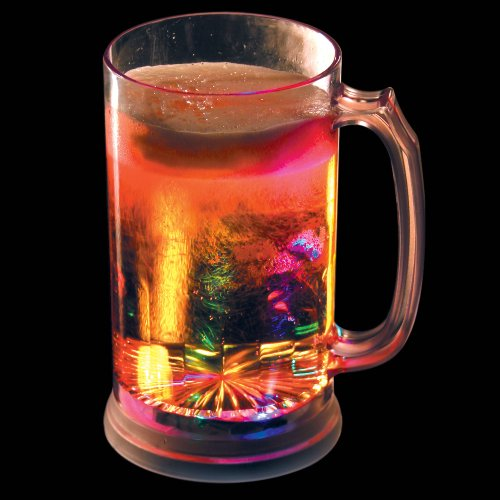 Flashing Panda 28 oz/800 ml LED Light Up Flashing Multicolor Beer (Flashing Beer Mug)