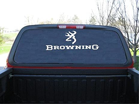 Browning deer head custom made window decal sticker 9 x 24