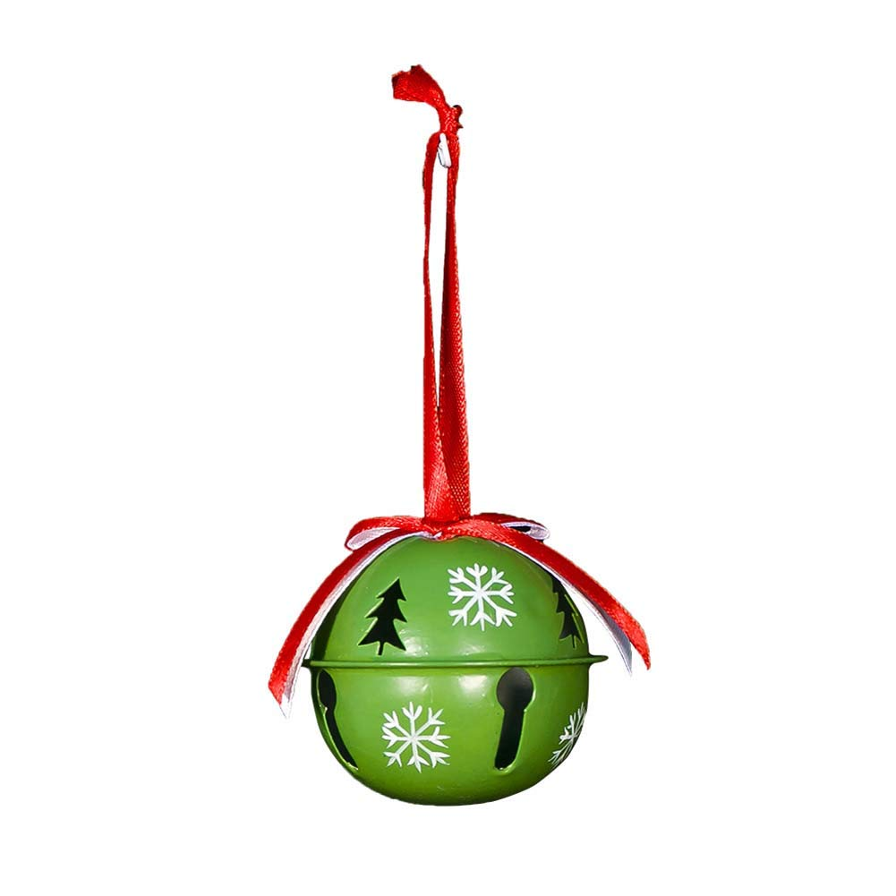 HOMIXES Craft Bells Hanging Ornament Christmas Snowflake Red Green White 3Pcs 2.5 DIY Metal Jingle Bell Party Decorate Festival Accessories Type 01