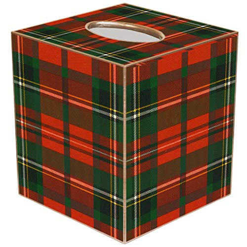 Marye-Kelley Christmas Tissue Box Cover Christmas Plaid Tissue Box CoverTB1243-