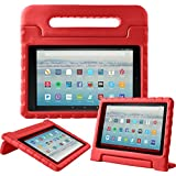 eTopxizu Tablet Case for All-New Amazon Fire HD 10 2017 - Light Weight Shock Proof Convertible Handle Kid-Proof Cover Kids Case for All-New Fire HD 10(7th Generation, 2017 Release), Red